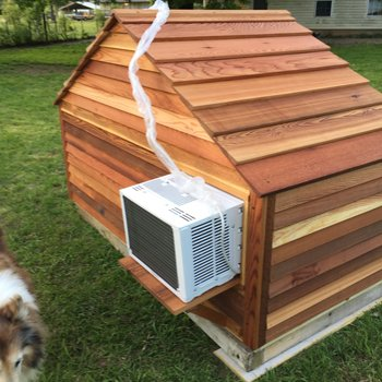 custom built puppy house with air conditioner